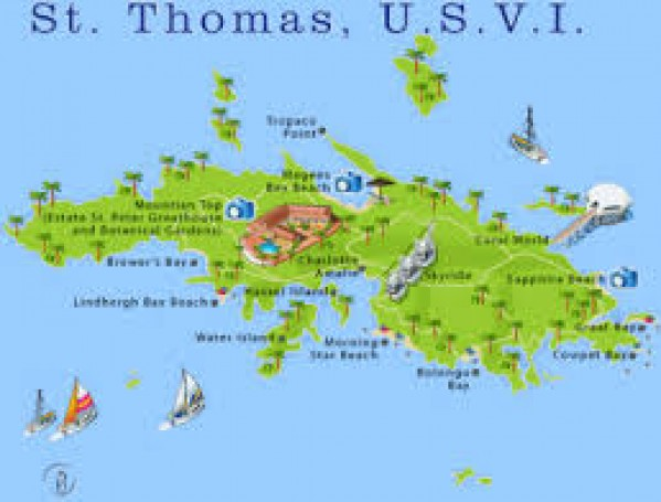 saint thomas is one of the virgin islands in the caribbean sea and together with saint john water island and saint croix form a county and constituent